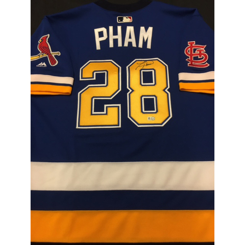 8d941f2be Cardinals Care Auction: Tommy Pham Autographed Team-Issued St. Louis Blues  Themed Cardinals