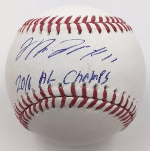 "Photo of Jose Ramirez ""2016 AL Champs"" Autographed Baseball"