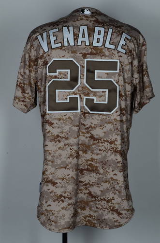 Will Venable Opening Day Game-Used Camo Jersey Vs Dodgers on 3 30  71eb952b7dc