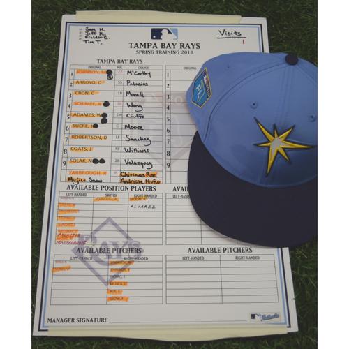 Photo of 2018 Spring Training Game Used Cap: C.J. Cron