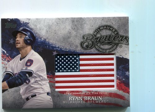 Photo of 2018 Topps Independence Day U.S. Flag Relics #IDMLRB Ryan Braun