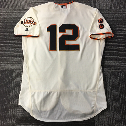 Photo of Joe Panik 1x ALL-STAR - Game-Used Jersey - HOMERUN & 4 RBI - Size 46