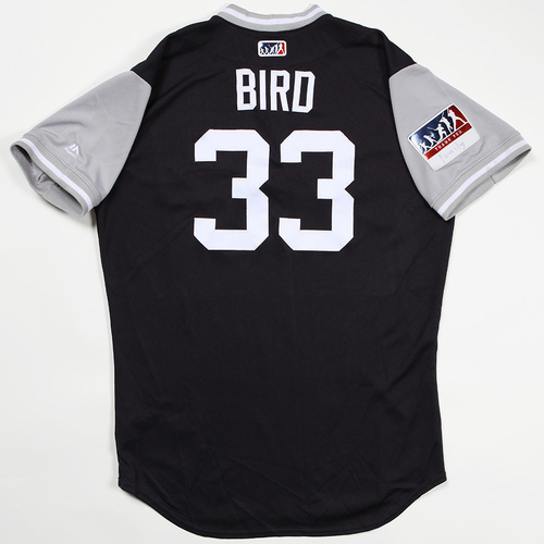 "Photo of Greg ""Bird"" Bird New York Yankees Game-Used Jersey 2018 Players' Weekend Jersey"