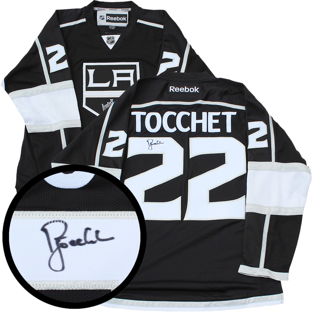 Rick Tocchet Signed Jersey Kings Replica Black 2011-2017 Reebok