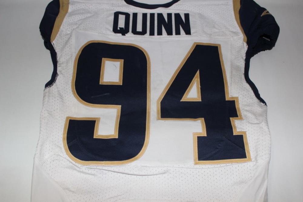 timeless design 25a7e 2cb98 NFL Auction | STS - RAMS ROBERT QUINN GAME WORN RAMS JERSEY ...