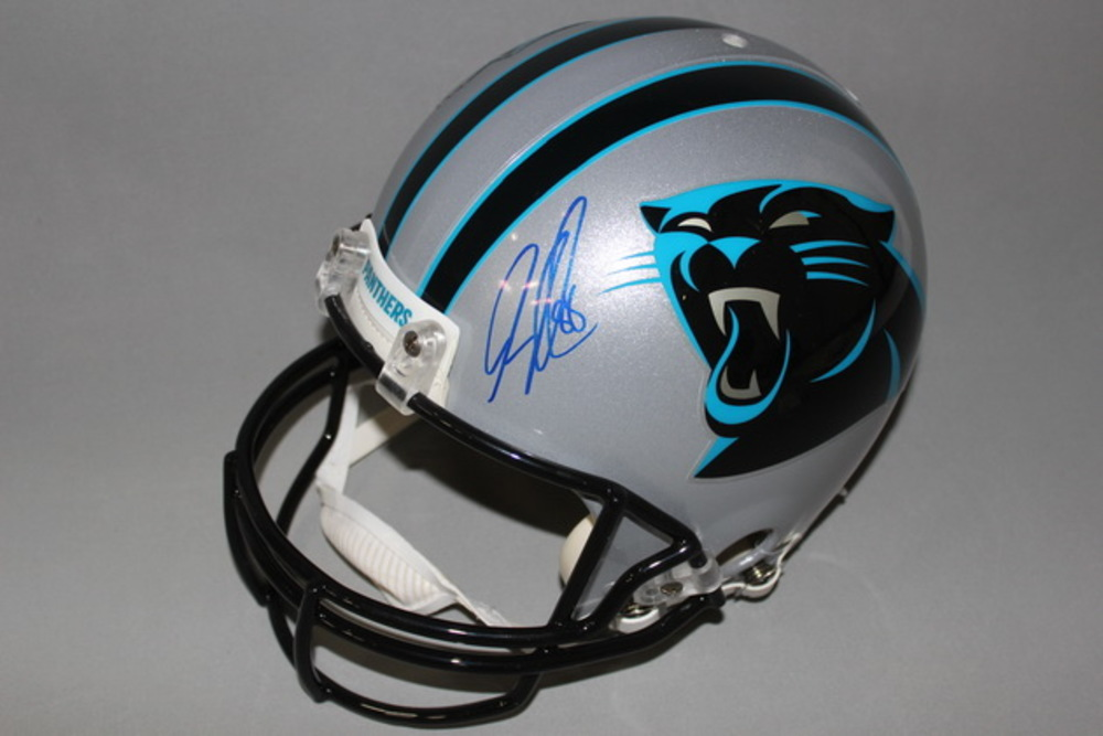 NFL - Panthers Greg Olsen signed Panthers proline helmet