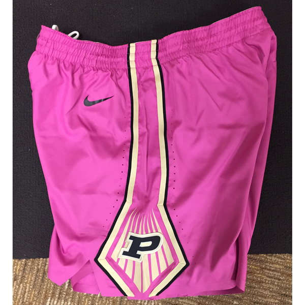 Photo of Purdue Women's Basketball 2018-19 Commemorative Cancer Awareness Pink Shorts / Size 40 M