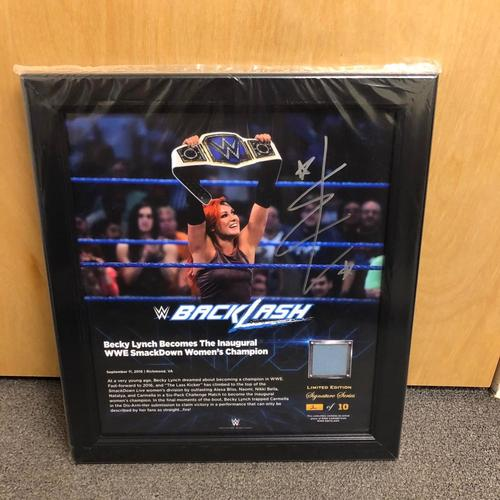 Becky Lynch SIGNED BackLash 2016 Signature Series Ring Canvas Plaque (#2 of 10)