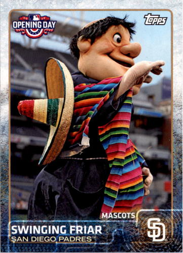 Photo of 2015 Topps Opening Day Mascots #M20 Swinging Friar