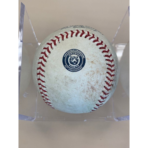Photo of Game-Used 35th Anniversary Baseball: Jeimer Candelario Single