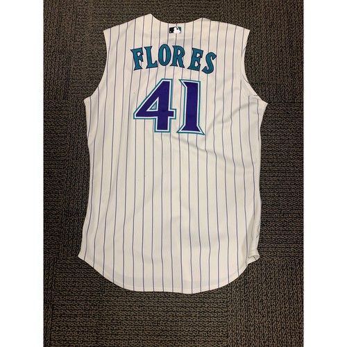 August 29, 2019 Wilmer Flores 3 hit and 3 RBI Game-Used Throwback Jersey