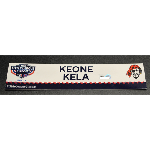 Photo of 2019 Little League Classic - Game Used Locker Tag - Keone Kela,  Chicago Cubs at Pittsburgh Pirates - 8/18/2019