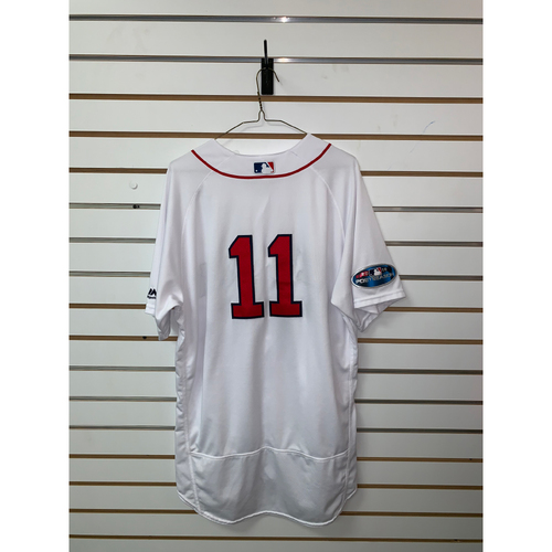 Photo of Rafael Devers Game Used October 14, 2018 Home Jersey
