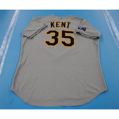 Photo of 2006 Inaugural World Baseball Classic: Matthew Kent Game-worn Team Australia Road Jersey