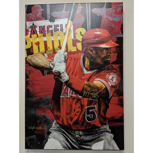 Photo of Albert Pujols Autographed Stephen Holland Giclée Canvas