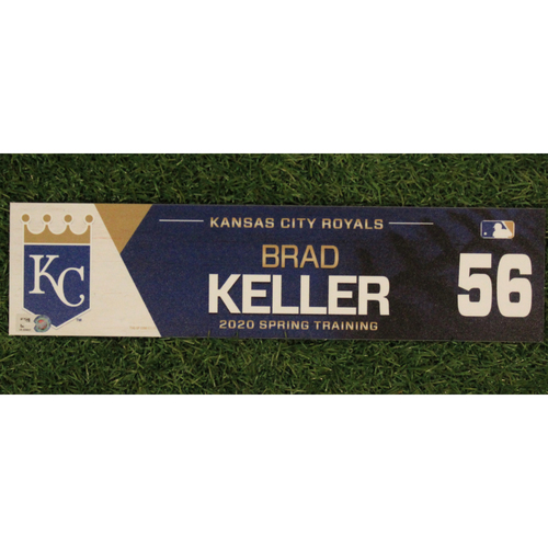 Game-Used Spring Training Locker Tag: Brad Keller #56