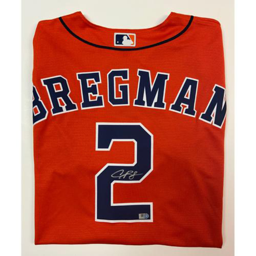 Photo of Alex Bregman Autographed Replica Orange Alternate Jersey