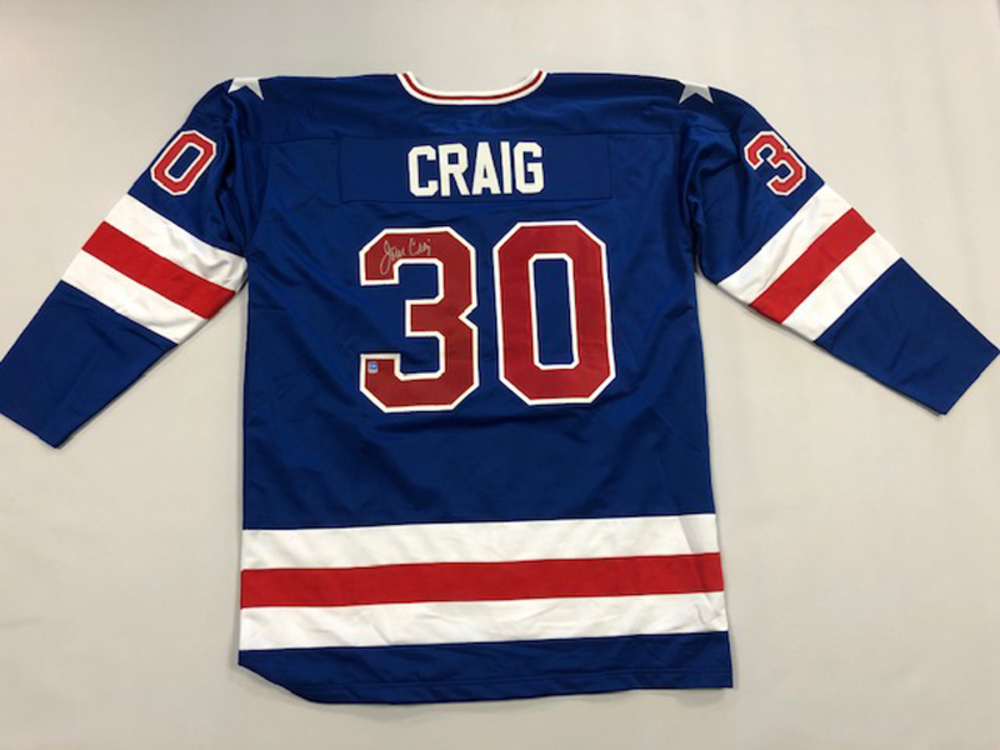 Jim Craig Autographed Team USA Jersey
