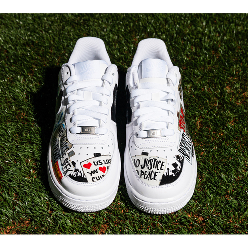 Photo of Promote the Vote: Custom Design Sneakers Theme: Peaceful Protest and Game-Used Baseball