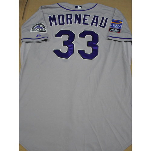 Photo of Game-Used Jersey - Japan All-Star Series 2014 - Colorado Jersey - 11/15/2014, 11/18/2014 - Justin Morneau