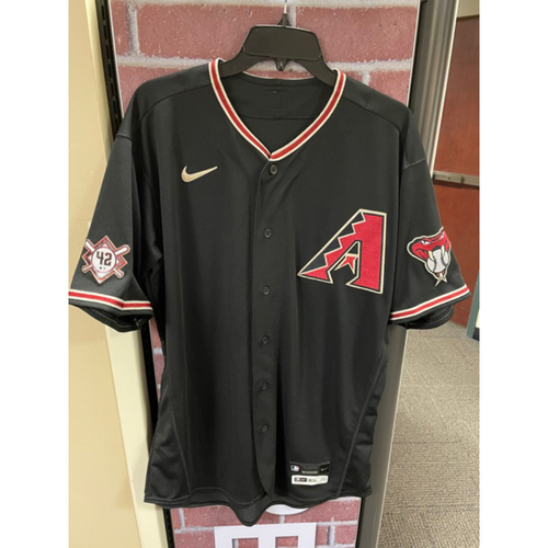 Photo of Kevin Ginkel 2020 Game-Used Jackie Robinson Day Jersey: 8/28/20 vs. Giants