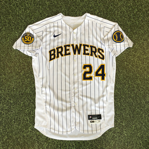 Photo of Avisail Garcia 2020 Team-Issued Home Pinstripe Jersey