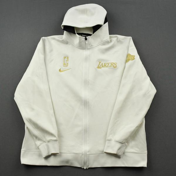 Image of LeBron James - Los Angeles Lakers - Game-Worn Opening Night / Championship Ring Ceremony Jacket - 2020-21 NBA Season