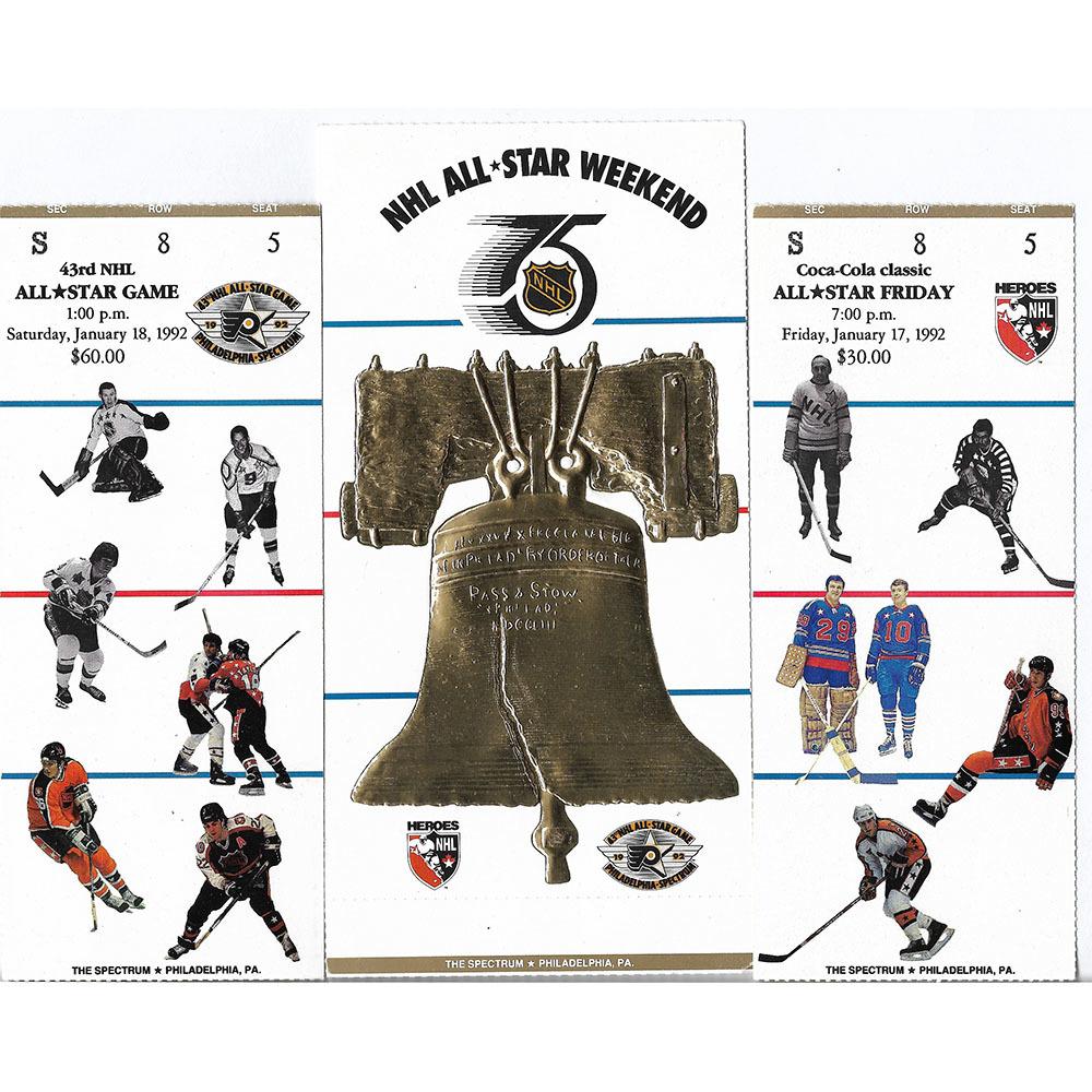 1992 NHL All-Star Weekend Ticket Stubs - 75th Anniversary Season