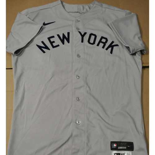 Photo of 2021 New York Yankees vs. Chicago White Sox in Dyersville, Iowa - Game-Used 1919 Throwback Jersey - Estevan Florial - Size 44