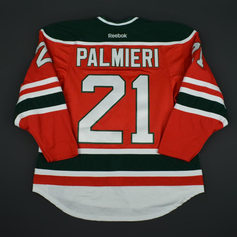 super popular 79cf3 89c8a Kyle Palmieri - New Jersey Devils - Retro Night Game-Worn ...