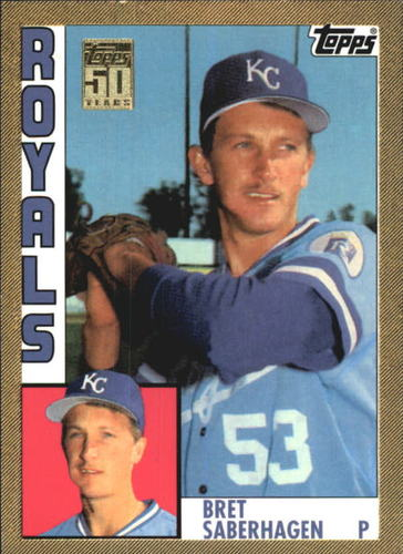 Photo of 2001 Topps Traded Gold #T110 Bret Saberhagen 84