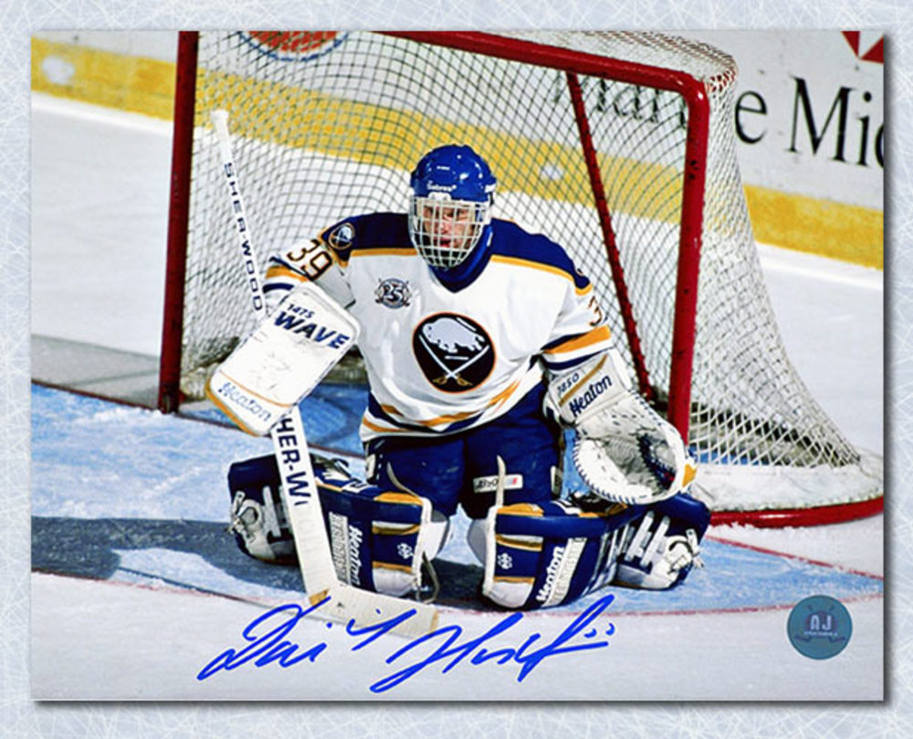 Dominik Hasek Buffalo Sabres Autographed Butterfly Save 8x10 Photo