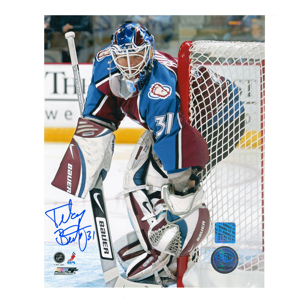 PETER BUDAJ Signed Colorado Avalanche 8 X 10 Photo - 70232