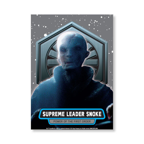 Supreme Leader Snoke 2016 Star Wars The Force Awakens Chrome Metal Poster - # to 99