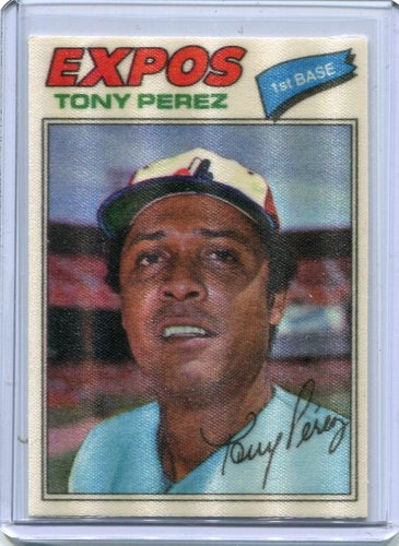 Photo of 1977 Topps Cloth Stickers #37 Tony Perez