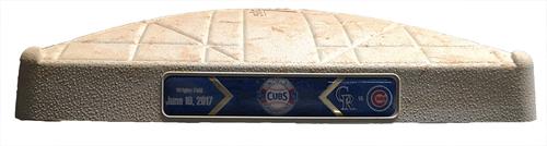 Game-Used 2nd Base -- Cubs vs. Rockies -- 6/10/17 -- Used Innings 5 through 9