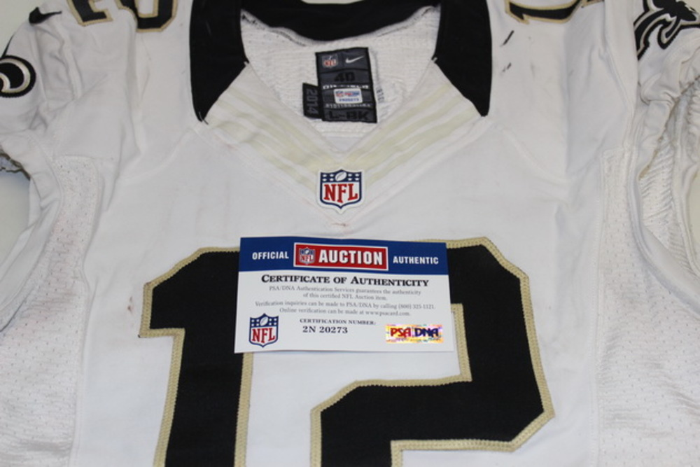 CRUCIAL CATCH - SAINTS MARQUES COLSTON GAME WORN SAINTS JERSEY (OCTOBER 4, 2015)