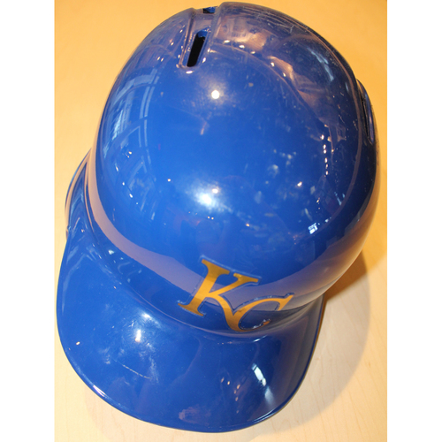 Photo of Game-Used Batting Helmet: Brandon Moss 742nd Career Hit (ARI at KC - 9/29/2017)