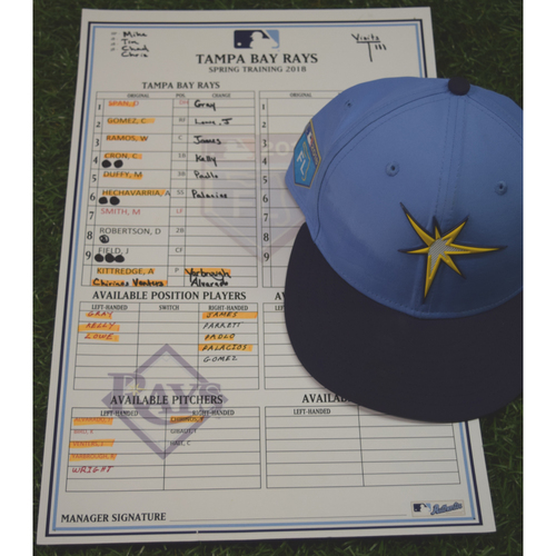 Photo of 2018 Spring Training Game Used Cap: Carlos Gomez