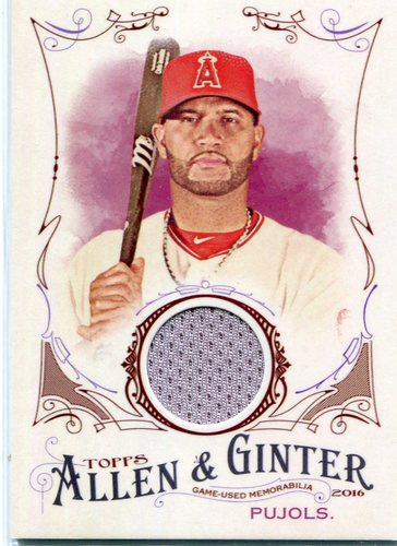 Photo of 2016 Topps Allen and Ginter Relics  Albert Pujols