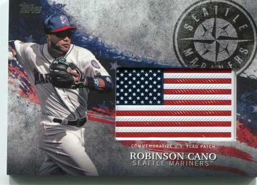 Photo of 2018 Topps Independence Day U.S. Flag Relics #IDMLRC Robinson Cano