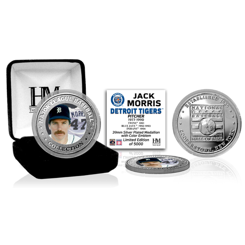 Photo of Jack Morris Baseball Hall of Fame Silver Color Coin