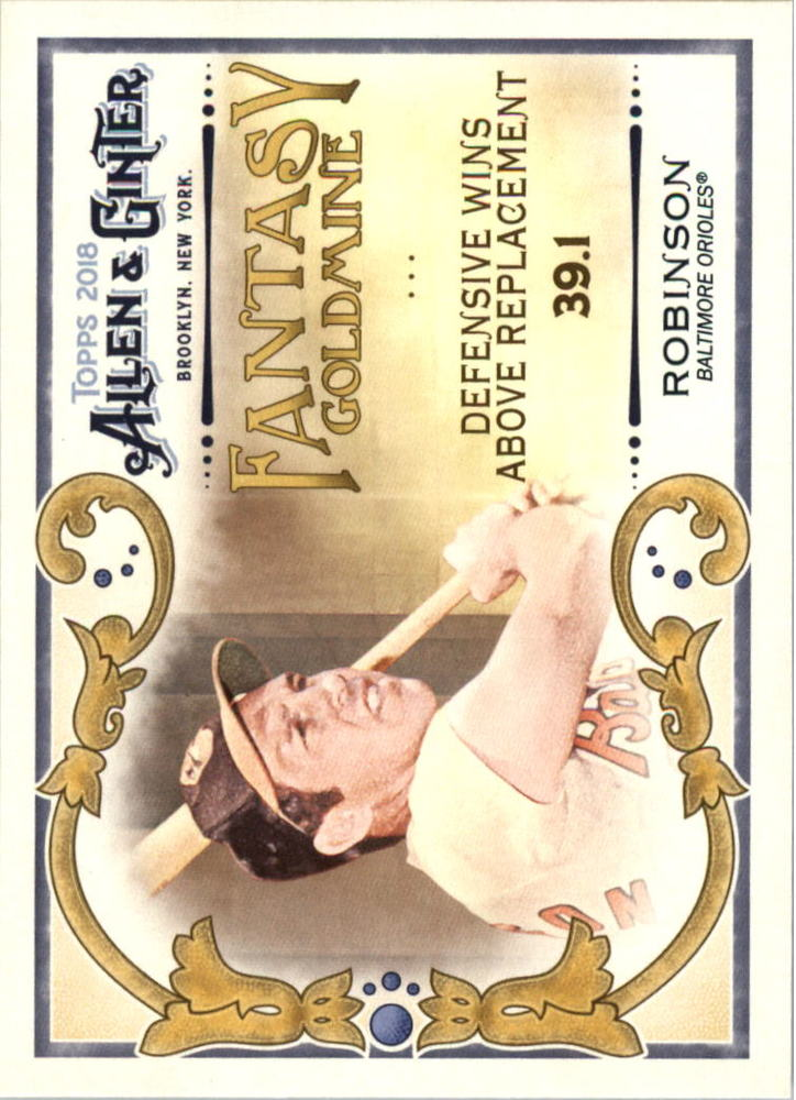 2018 Topps Allen and Ginter Fantasy Goldmine #FG41 Brooks Robinson