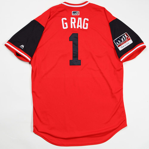 """Photo of Greg """"G Rag"""" Allen Cleveland Indians Game-Used Jersey 2018 Players' Weekend Jersey"""
