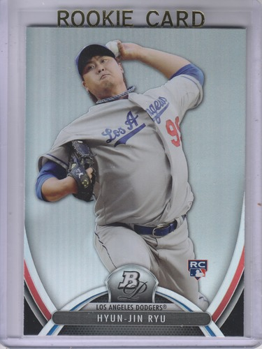 Photo of 2013 Bowman Platinum #96 Hyun-Jin Ryu Rookie Card