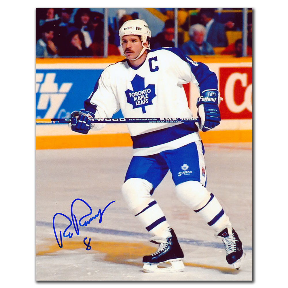 Rob Ramage Toronto Maple Leafs WHITE JERSEY Autographed 8x10