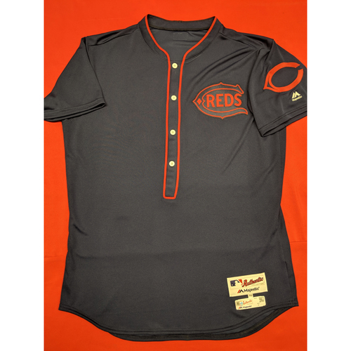 J.R. House -- Game-Used Jersey/Pants -- 1911 Throwback worn 5/5/19 -- Jersey Size - 46; Pants Size - 36-40-16