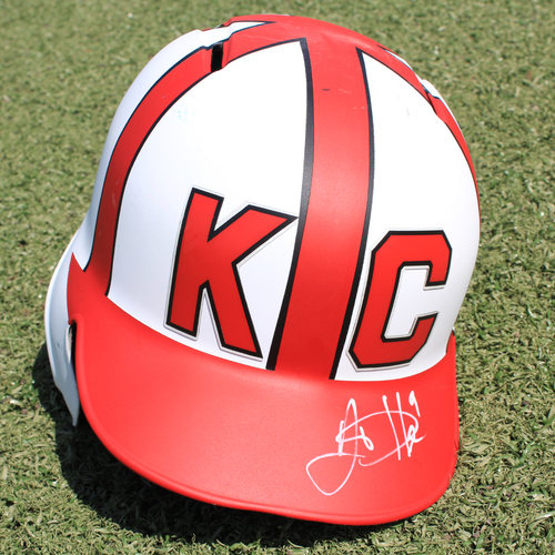 Photo of Salute to the Negro Leagues Autographed Helmet: Lucas Duda (Size 7 1/2 - MIN at KC - 6/23/19)