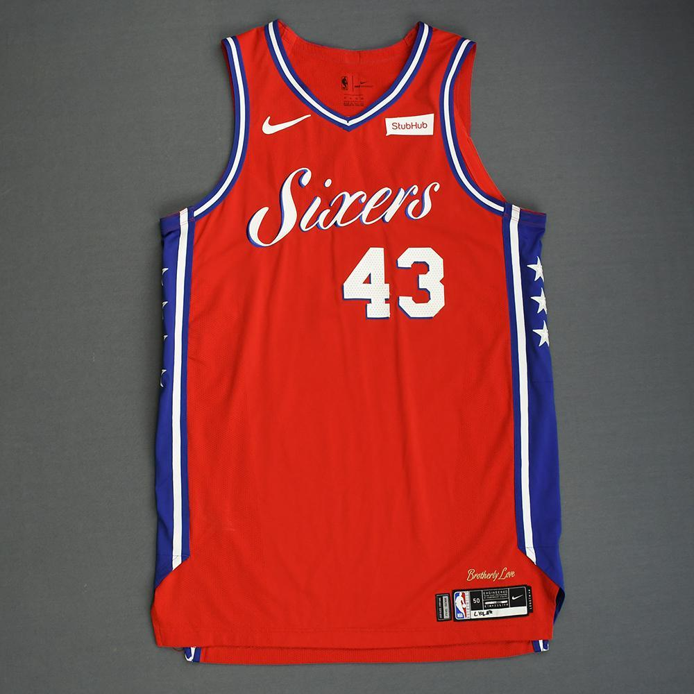 Jonah Bolden - Philadelphia 76ers - 2018-19 Season - China Games - Game-Worn Red Statement Edition Jersey
