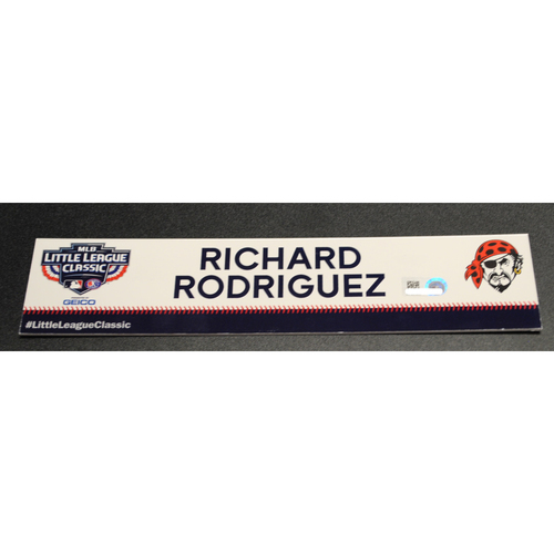 Photo of 2019 Little League Classic - Game Used Locker Tag - Richard Rodríguez,  Chicago Cubs at Pittsburgh Pirates - 8/18/2019